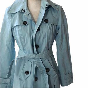 New York & Company  Baby Blue Rain Coat !